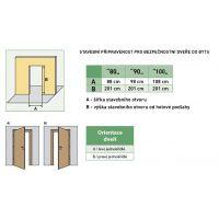 Bezpečnostní dveře Granit C Typ II - protipožární