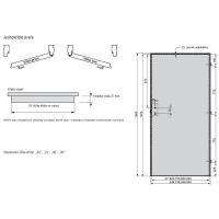 Interiérové dveře Porta Madryt, model 2/3 sklo