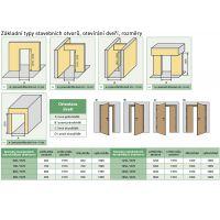 Interiérové dveře Standard natura kulaté okénko MDF