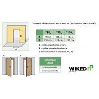 Vchodové dveře Wiked Optimum - vzor 1