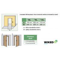 Vchodové dveře Wiked Normal - vzor 12B plné