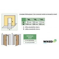 Vchodové dveře Wiked Normal - vzor 3 plné