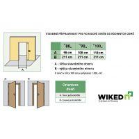 Vchodové dveře Wiked Optimum - vzor 25C prosklené