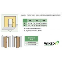 Vchodové dveře Wiked Premium - vzor 19 prosklené