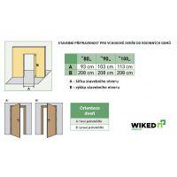 Vchodové dveře Wiked Premium - vzor 34B prosklené