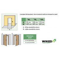 Vchodové dveře Wiked Premium - vzor 37 prosklené
