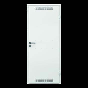 Levné technické dveře model 2 s ventilační mřížkou