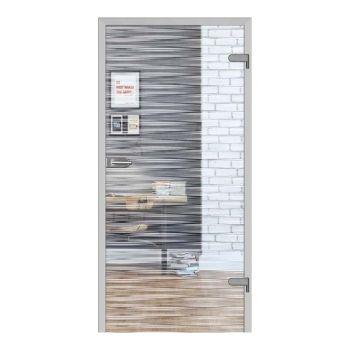 Skleněné dveře GALLA 10, čiré sklo + vzor