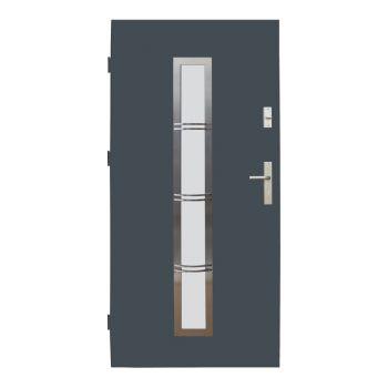 Vchodové dveře Wiked Optimum - vzor 12B prosklené